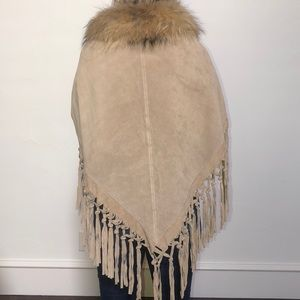 Dana Stein, leather fringe poncho.